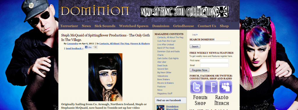 Spittingflower Productions interviewed by Dominion Magazine